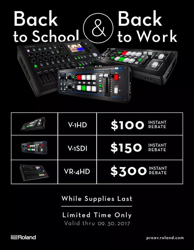Back To School and Back To Work - V-1HD, V-1SDI, VR-4HD