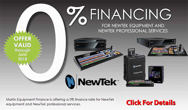 0% Financing for Newtek Equipment